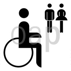 WC für Schwerbeschädigte allgemein