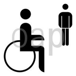 WC für Schwerbeschädigte Herren