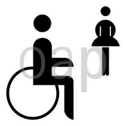 WC für Schwerbeschädigte Damen
