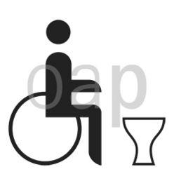 WC für Schwerbeschädigte