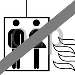 Do not use lift in case of fire